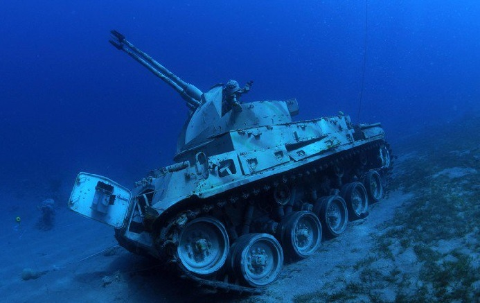 Underwater Military Museum in the Red Sea