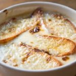 French Traditional Recipe Onion Soup.