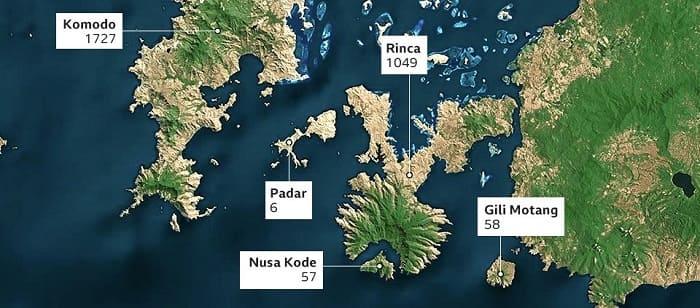 Map of Komodo - Indonesia