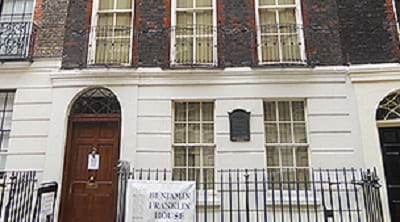 Benjamin Franklin's house in london
