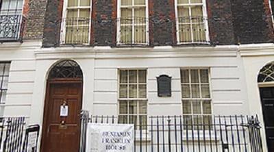 Benjamin Franklin's house in london