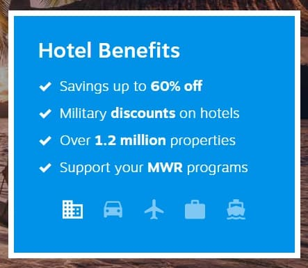 Infography Hotel benefits - Defense Travel Service (DTS).