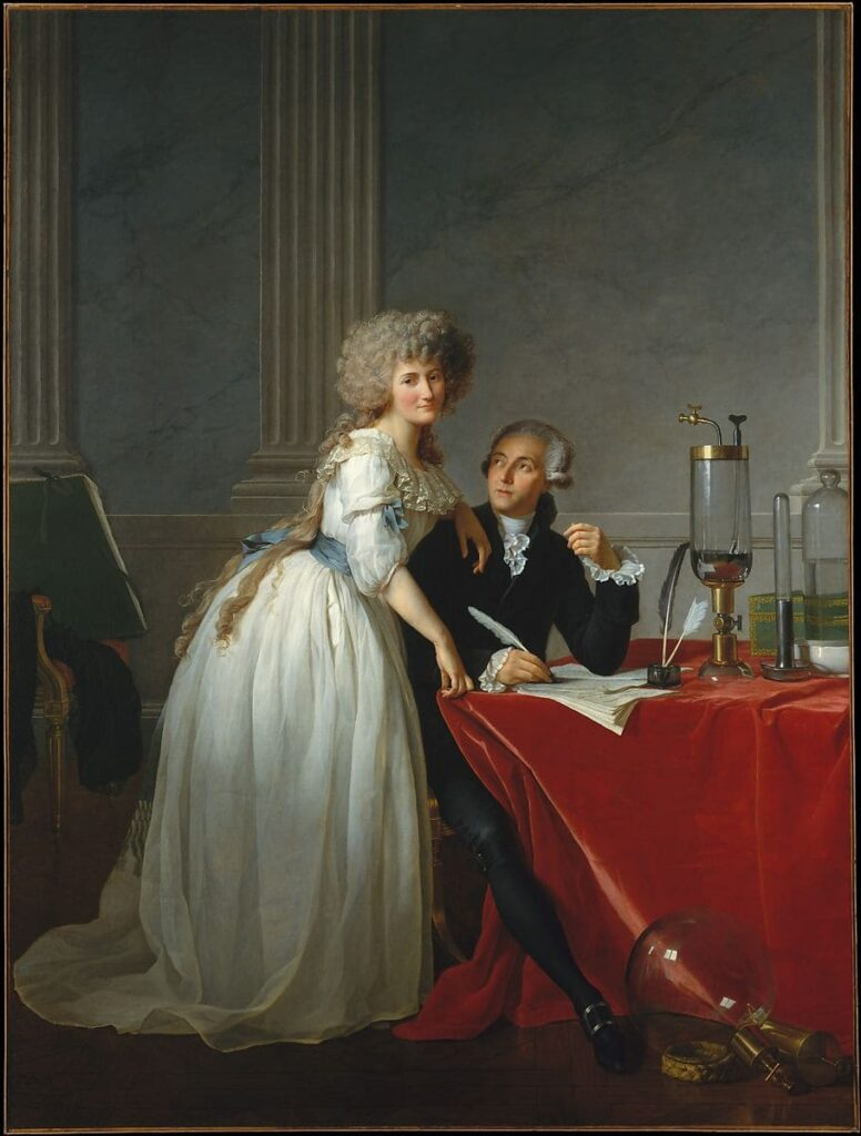 Jacques Louis David: - Antoine Laurent Lavoisier and His Wife - 1788 The MET