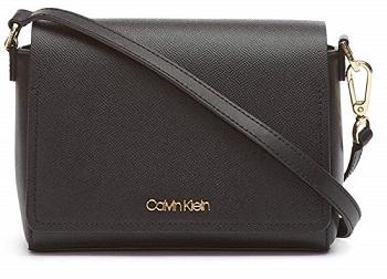 Calvin Klein 2020 Handbag Clara Stucco Leather Key Item Demi Shoulder Bag