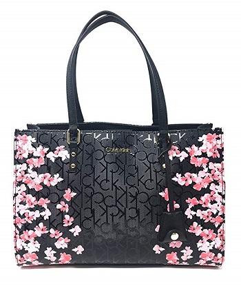 Calvin Klein 2020 Top Handle Bag, Black/Floral