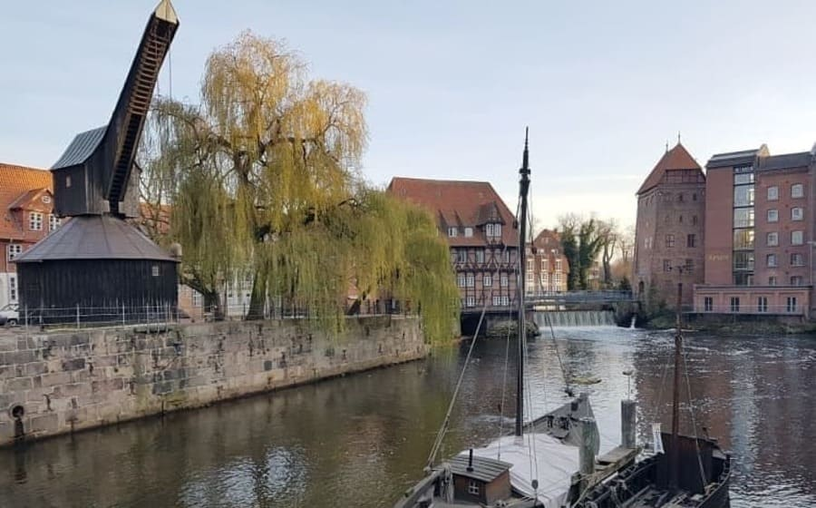 Medieval Treadwheel Cranes in Germany - Port of Luneburg
