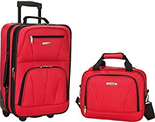 rockland luggage red
