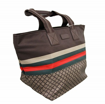Gucci 2020 Handbag Unisex Brown Nylon Diamante