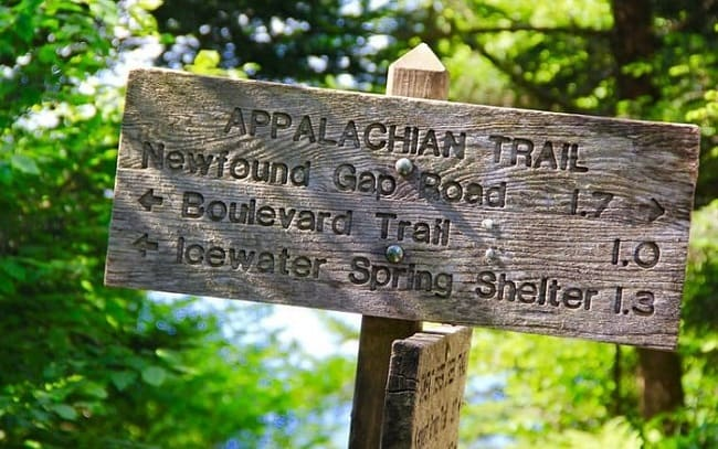 Trails on Great Smoky Mountains National Park