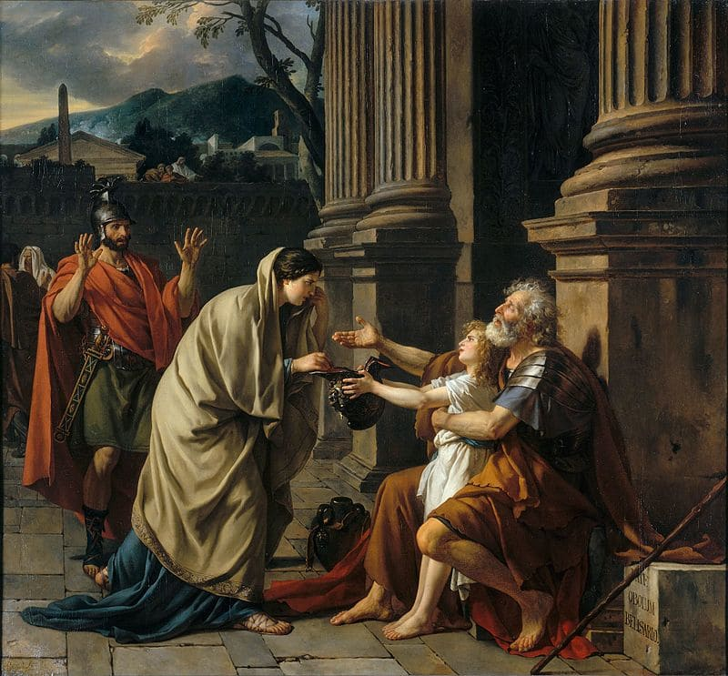 Jacques Louis David: - Belisario Asking for Alms - 1781 The Louvre. - #museum #art #painting