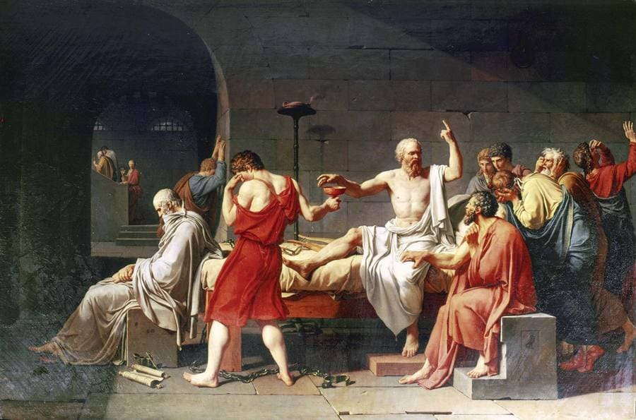Jacques Louis David: The Death of Socrates, 1787 - The MET #museum #art #painting