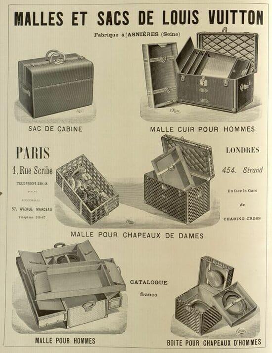 Malles et Sacs Louis Vuitton Poster Vintage - History of Louis Vuitton