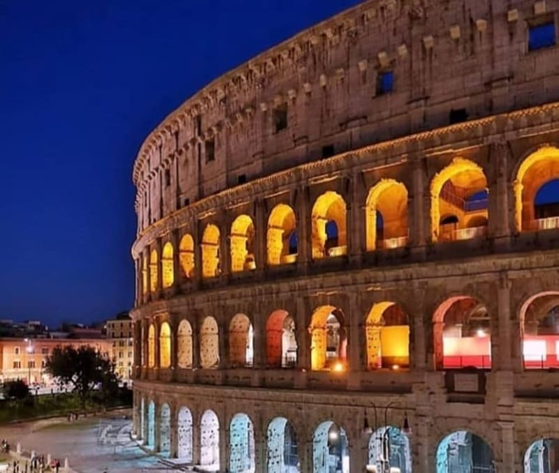 Rome amphitheater. Coliseum - History of Tourism
