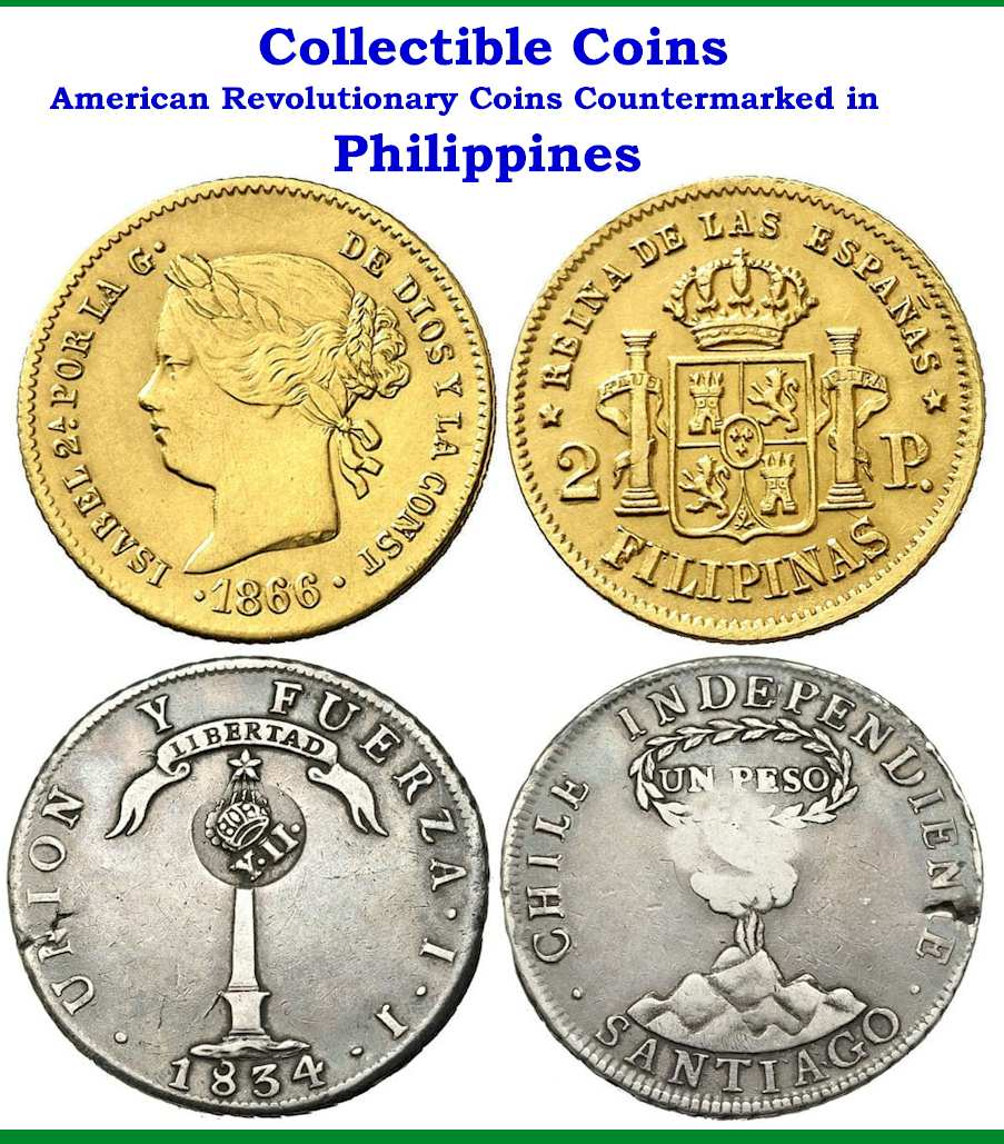 American Revolutionary Coins Countermarked in Philippines