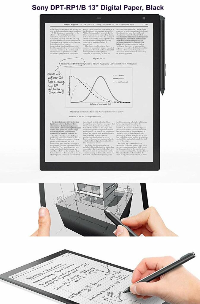 Sony DPT-RP1 13.3-inch screen - Digital Paper Reviewed 2020 - 2021