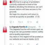 Cerró La Sagrada Familia por los Graves Disturbios en Barcelona