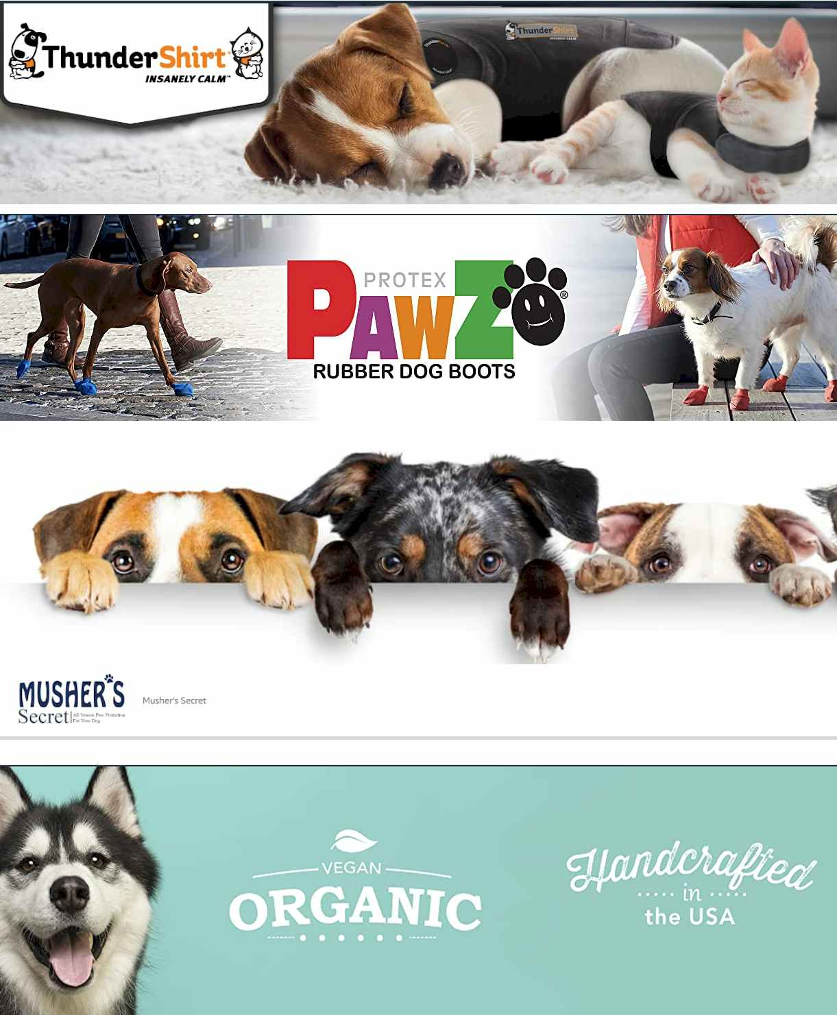 Thundershirt - Pawz - Mushers - Pets Accessories on Amazon -Pet Clothes & Accessories STORES Outward Hound  Store - #Thundershirt - #Vivaglory - #Paws_Aboard - #QUMY - #Protex #PawZ - #Musher's Secret - #Rubie's - #Natural_Dog Company - #RUFFWEAR #pets #dog