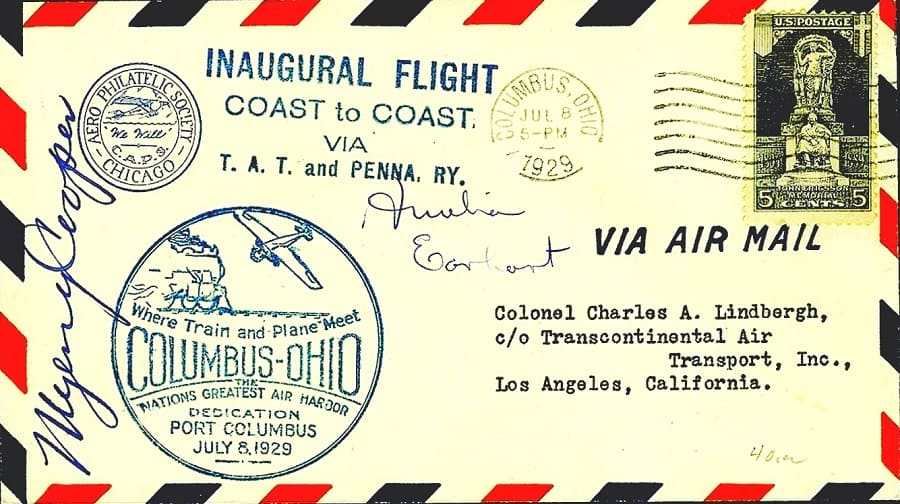 Lindbergh Line - First Coast to Coast Flight 1929