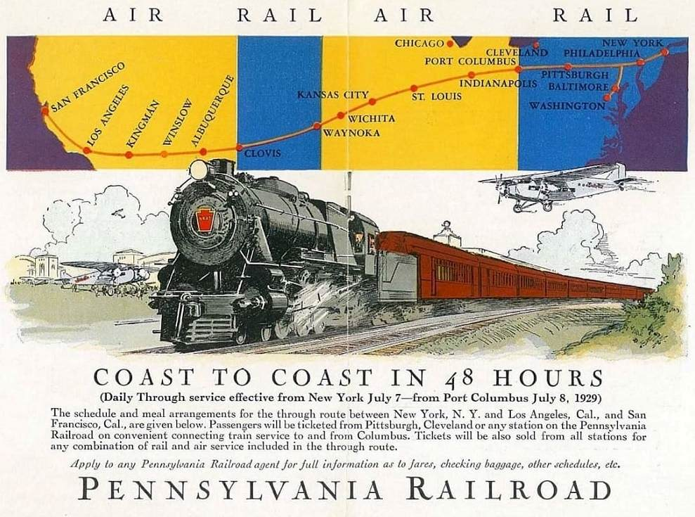 Pennsylvania Railroad - Coast to Coast 48 hs