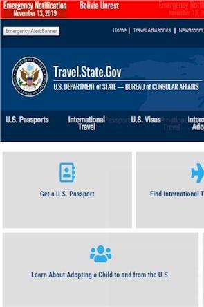Travel.State.Gov - Americans Travel 2020