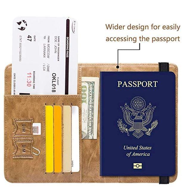 Passport Holder Cover Wallet RFID Blocking
