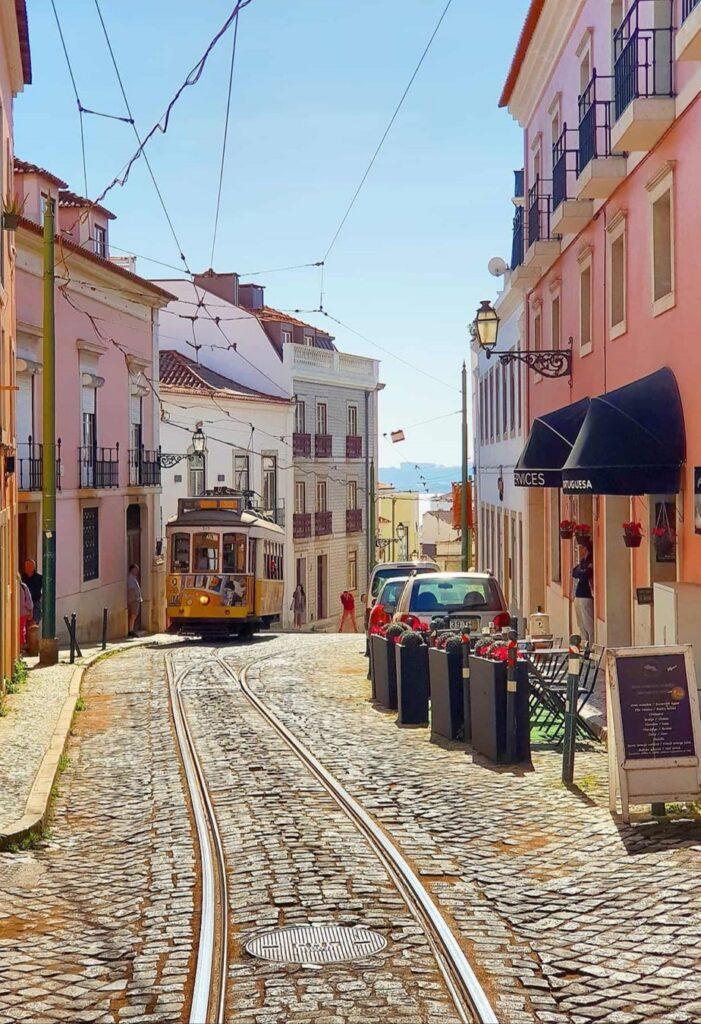 Tram on Lisbon Streets - Lisbon Tram Pics
