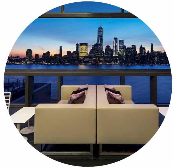 Views of NYC Hotel Hyatt House Jersey City