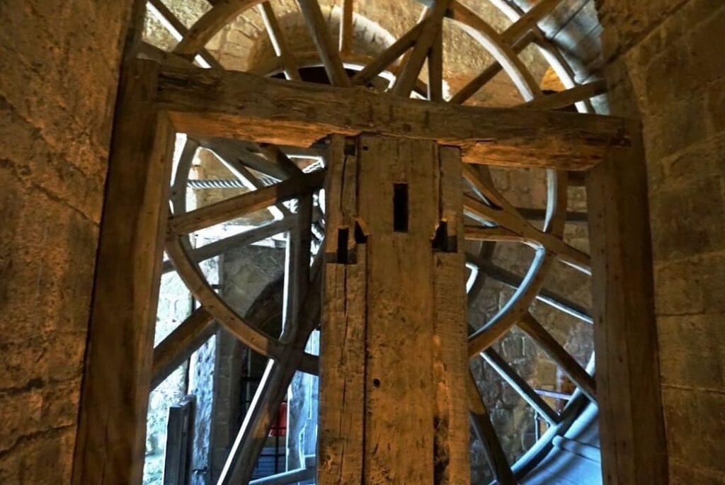 Treadwheel Crane of Mont Saint Michel Cathedral - France