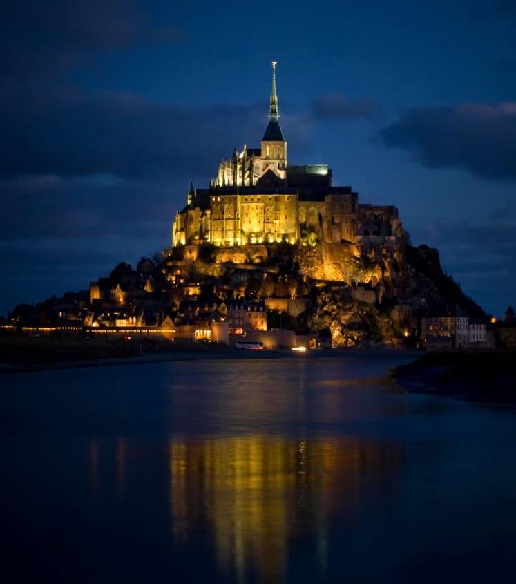 Actual Mont Saint Michel Cathedral - France
