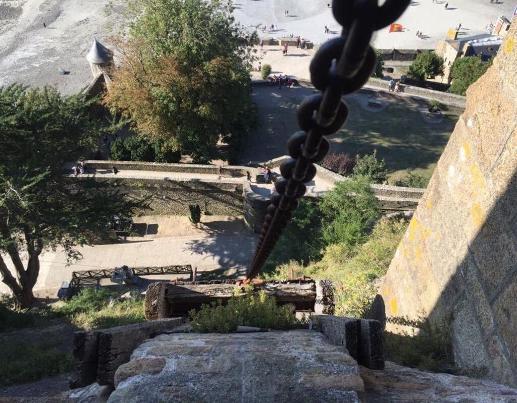 Trolley & Treadwheel Crane of Mont Saint Michel Cathedral - France