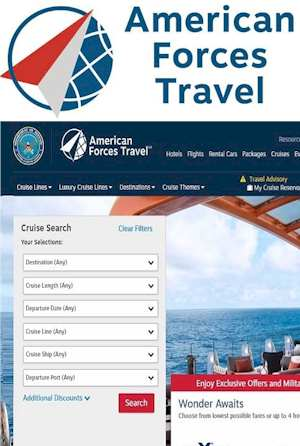 American Forces Travel Reservation Site Review The Department of Defense has partnered with Priceline®  to manage an exclusive travel reservation site for members of the US military. It can be used by active duty members, veterans and their families. Now they have an online website to find and book trips with discounts.