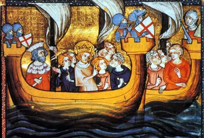 How did you travel during the Middle Ages? By Sea