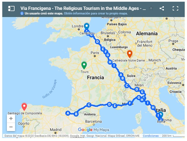 Via Francigena – The Religious Tourism in Midlle Ages