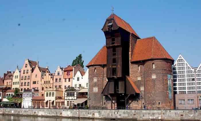 Gdansk First Medieval Wheel Crane Treadwheel Crane