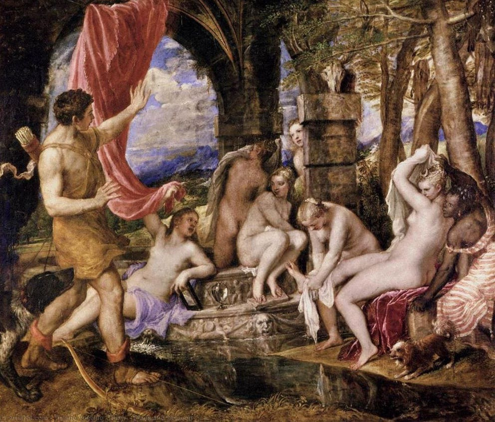 Diana y Actaeon - Titian - 1565 -National Gallery London