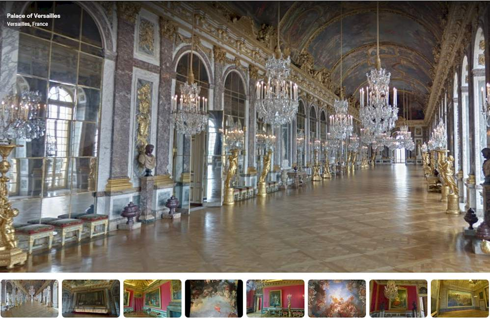 Palace of Versailles Virtual Tour - The Hall of Mirrors