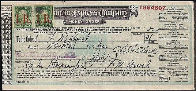 AMEX History of Tourism Traveler's Checks