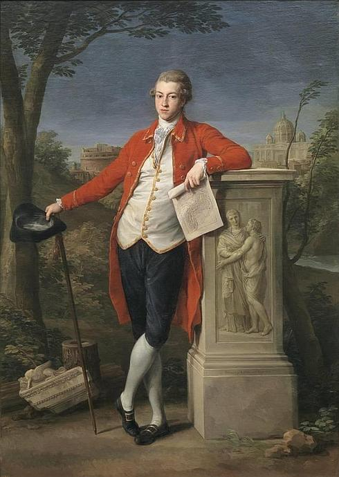 Francis Basset, The Grand Tour History of Tourism -during his Grand Tour, by Pompeo Batoni, 1778 - Museo del Prado #art