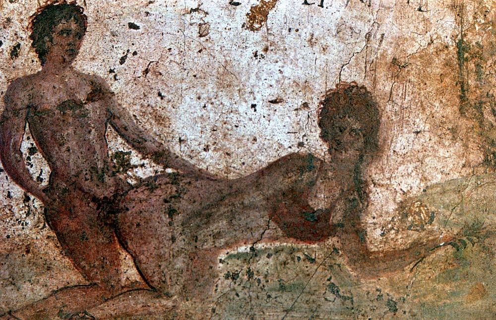 Pompeii Archaeological Park - Erotic Painting