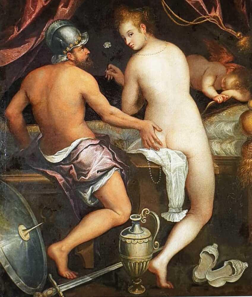 Lavinia Fontana Mars and Venus, c. 1595 Oil on canvas Madrid, Fundación Casa de Alba #nude #art