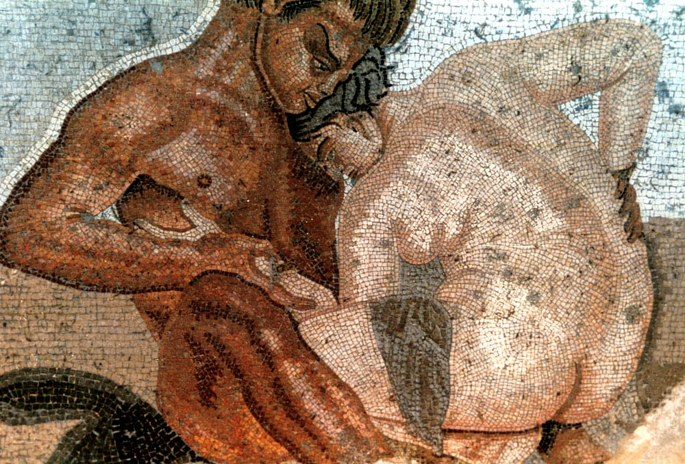 House of the Fauno -satyr and nymph-Pompeii   -Erotic Pompeii: Traveling to a Different Pompeii, we will answer that question.  Pompeii is located in the south of Italy. barely two hours away by train from Rome