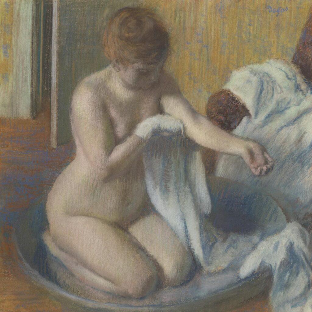 Woman in a Tub - Edgar Degas - 1883
