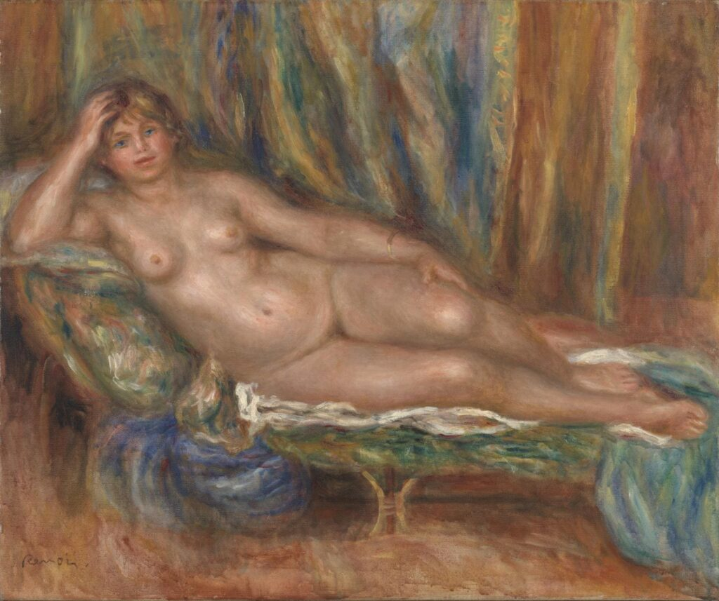Nude on a Couch  - Auguste Renoir - 1915 =Nude Artworks on Tate Museum - London - UK
