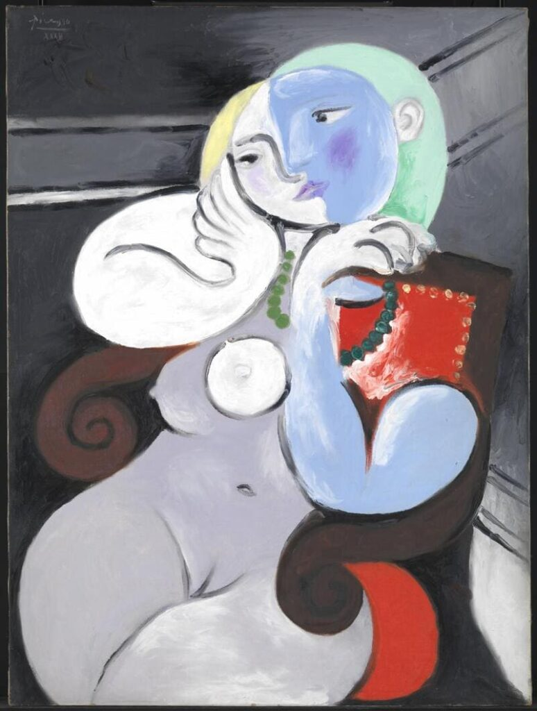 Nude Woman in a Red Armchair - Picasso Nude Artworks
