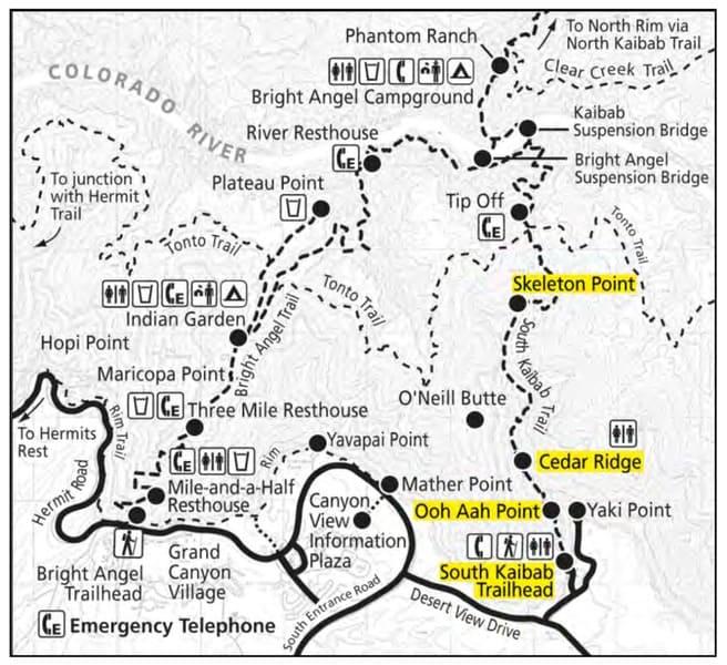 Grand Canyon National Park - Skeleton Point info
