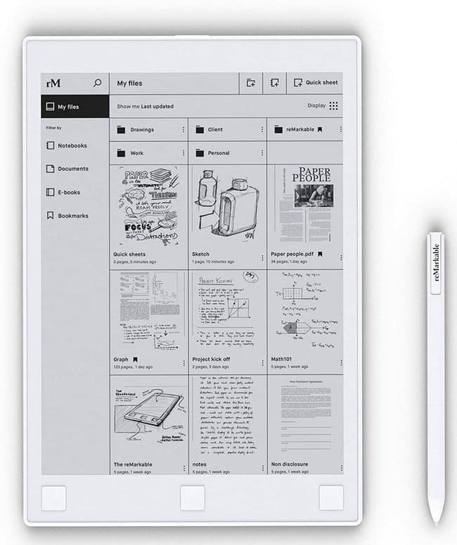 eInk Notepad -Digital Paper Reviewed 2021 - ReMarkable