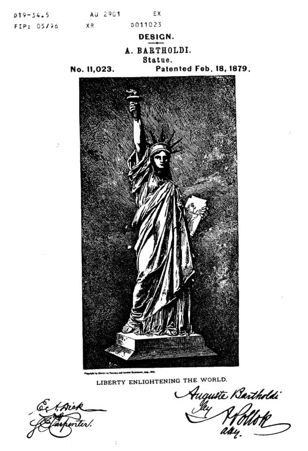 Statues of Liberty US Patent
