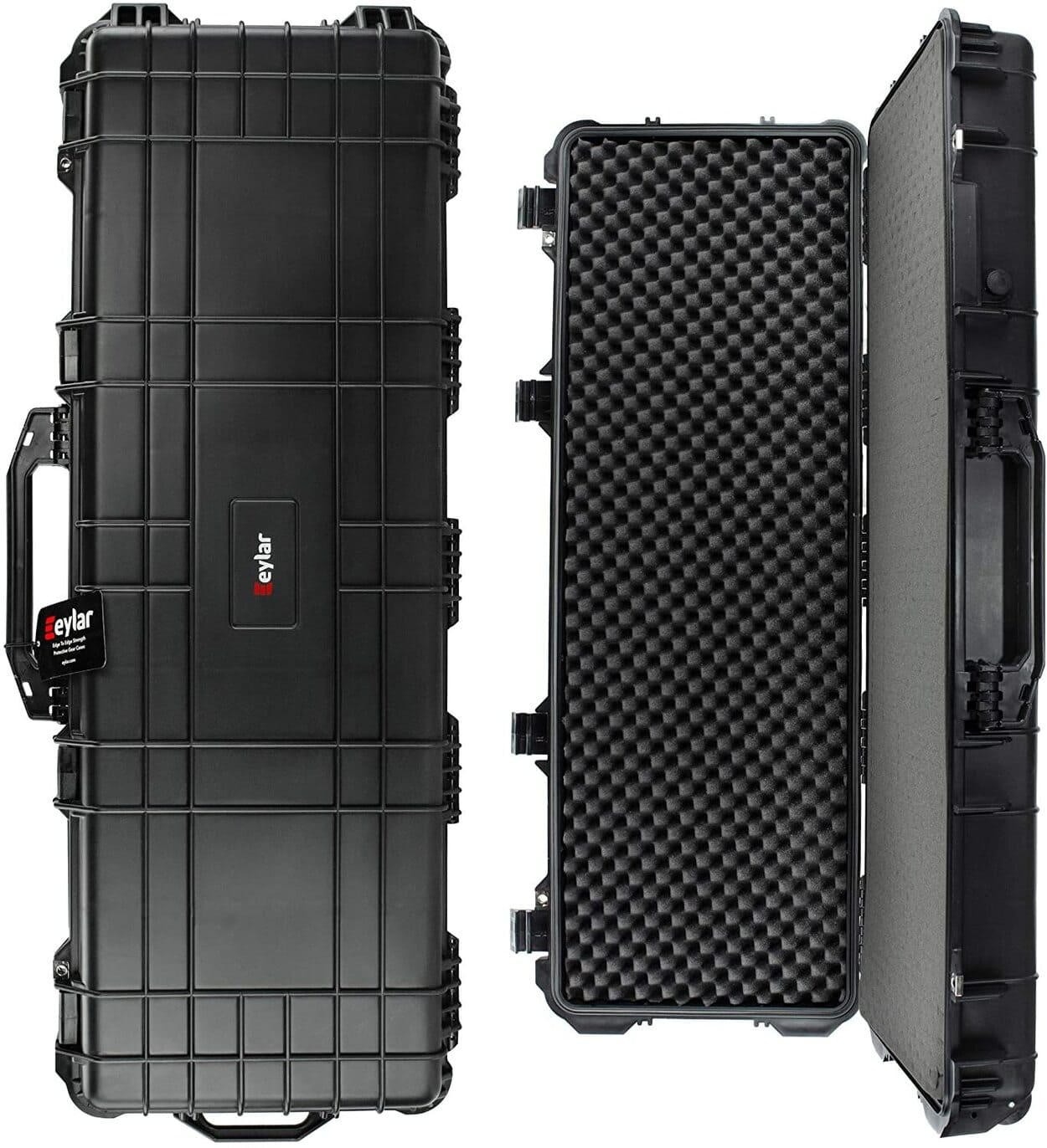 Protective Roller Tactical Rifle Hard Case with Foam, Mil-Spec Waterproof & Crushproof