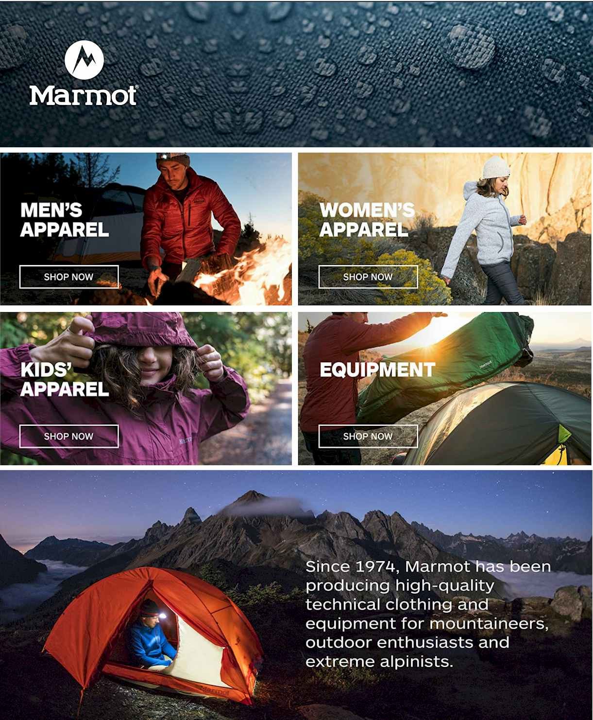 Marmot Store  - hiking