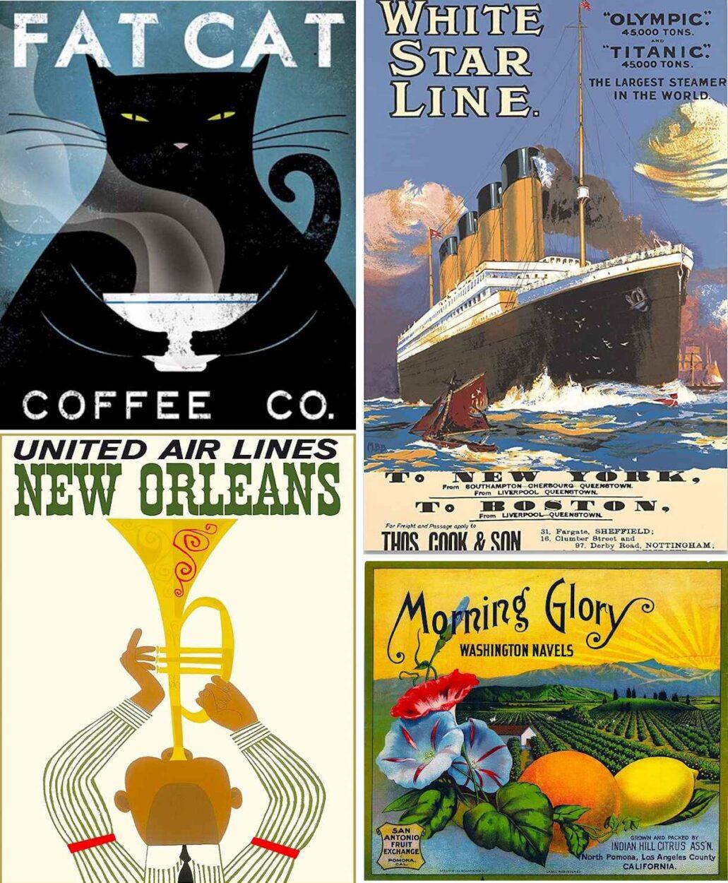 Vintage Posters Ads